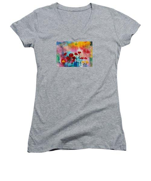 Acrylic Msc 101 Women's V-Neck T-Shirt (Junior Cut) by Mario Sergio Calzi