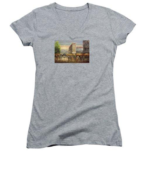 Acrylic Msc 132 Women's V-Neck T-Shirt (Junior Cut) by Mario Sergio Calzi
