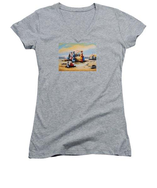 Acrylic Msc 191 Women's V-Neck T-Shirt (Junior Cut) by Mario Sergio Calzi
