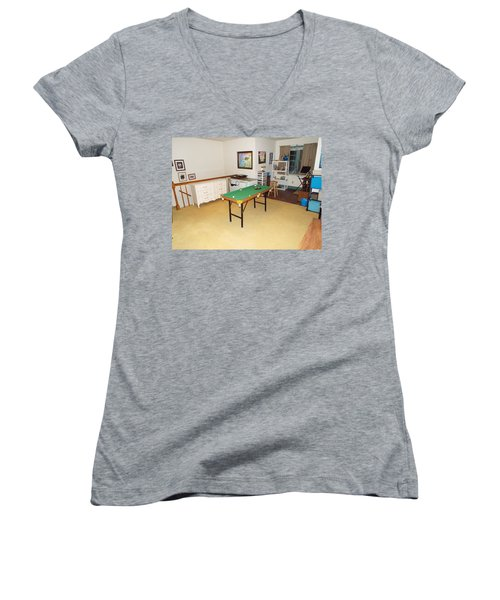 Activity Room Women's V-Neck (Athletic Fit)