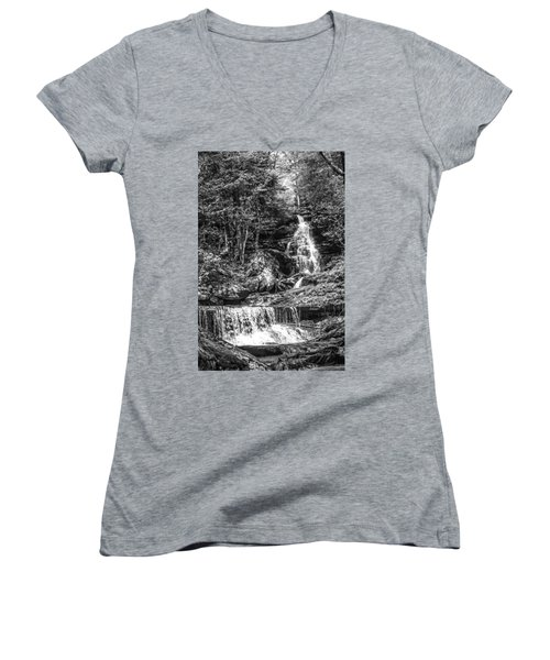 Adams Falls - 8867 Women's V-Neck T-Shirt