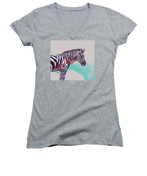 Adapt To The Unknown Women's V-Neck T-Shirt (Junior Cut) by Uma Gokhale