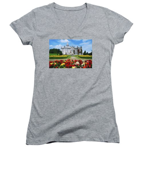Adare Manor Golf Club, Co Limerick Women's V-Neck T-Shirt
