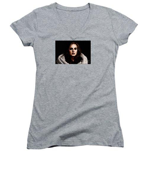 Adele Women's V-Neck T-Shirt (Junior Cut)