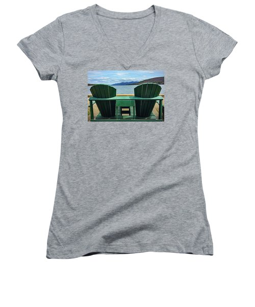Adirondack Chair For Two Women's V-Neck