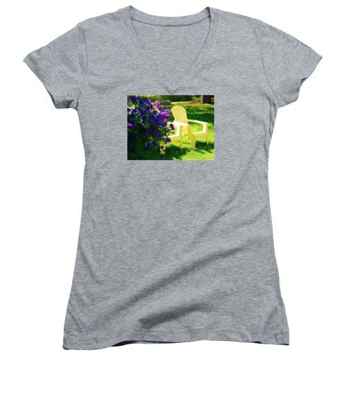 Adirondack Summer Days Women's V-Neck (Athletic Fit)