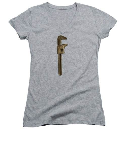 Adjustable Wrench Backside Women's V-Neck T-Shirt