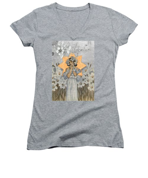 Adoration Art Deco Women's V-Neck