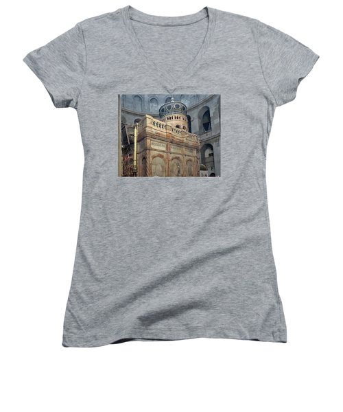 Aedicule Of The Holy Sepulchre Women's V-Neck (Athletic Fit)