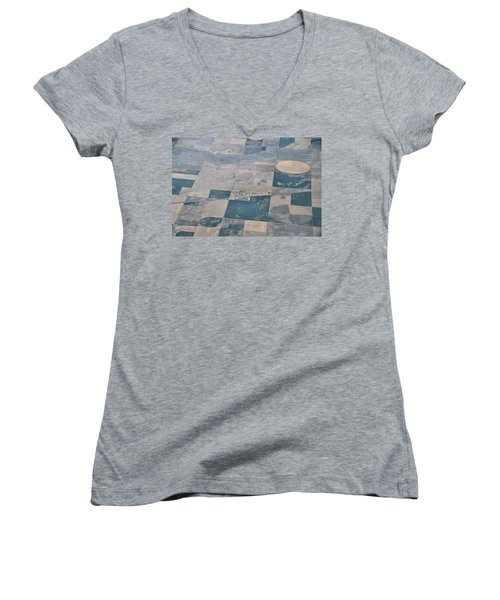 Women's V-Neck T-Shirt (Junior Cut) featuring the photograph Aerial 1 by Steven Richman