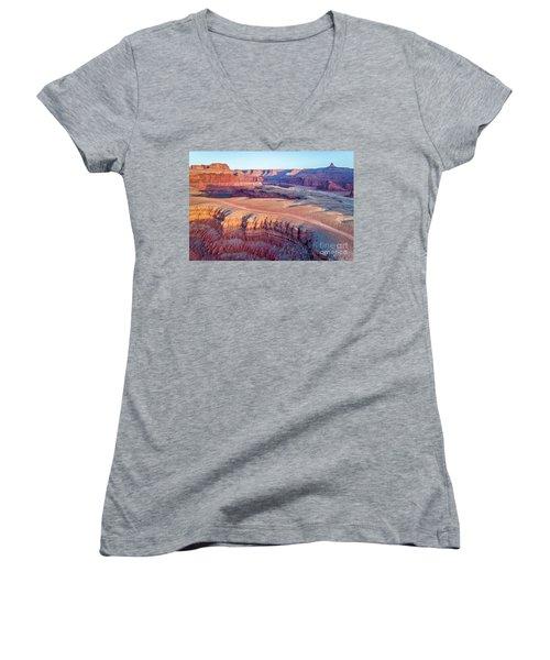 aerial view of Colorado RIver canyon Women's V-Neck T-Shirt