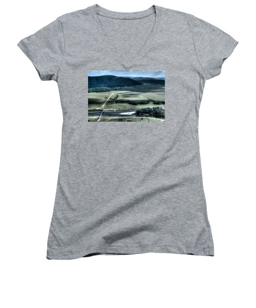 Aerial View Of Rolling Russian Hills Women's V-Neck