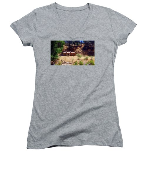 Cozy Cabin Kern County California Women's V-Neck