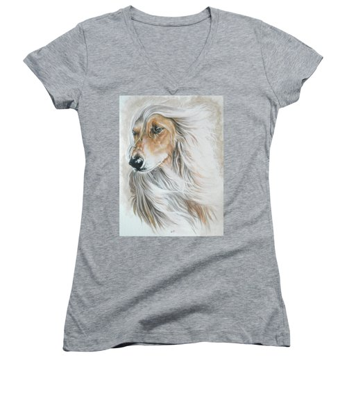 Afghan Hound Women's V-Neck