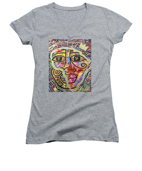 Africa Center Of The World Women's V-Neck