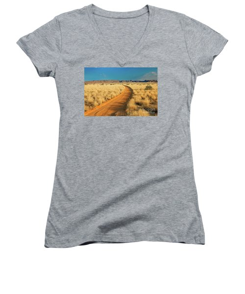 African Sand Road Women's V-Neck