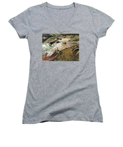 After Sargent Women's V-Neck T-Shirt