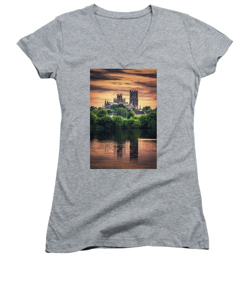 Women's V-Neck featuring the photograph After Sunset by James Billings