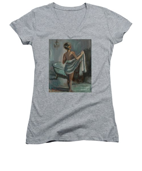 After The Bath Women's V-Neck (Athletic Fit)