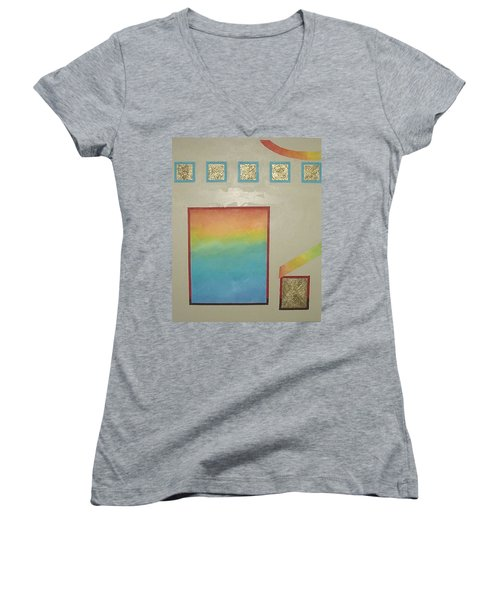 After The Rain Women's V-Neck T-Shirt (Junior Cut) by Bernard Goodman