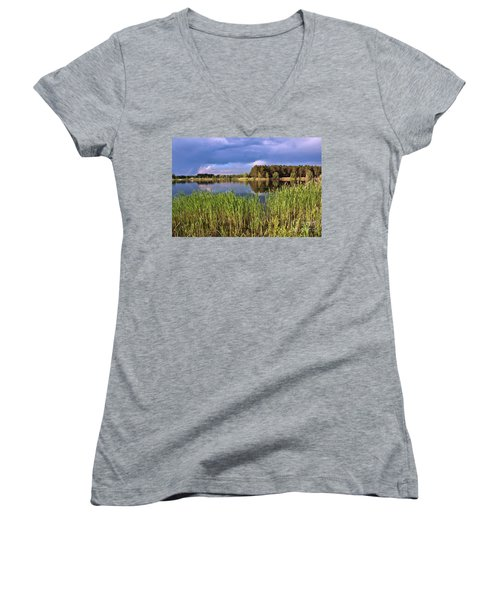 After The Rain Poetry Women's V-Neck (Athletic Fit)
