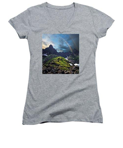 After The Rain Storm Women's V-Neck T-Shirt (Junior Cut) by Vladimir Kholostykh