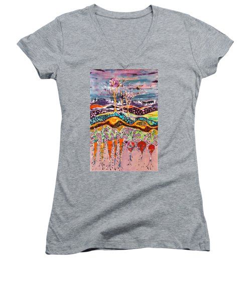 After The Thunderstorm Women's V-Neck (Athletic Fit)