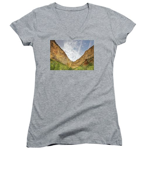 Afternoon In Boynton Canyon Women's V-Neck (Athletic Fit)
