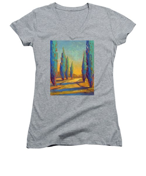 Afternoon Shadows 4 Women's V-Neck
