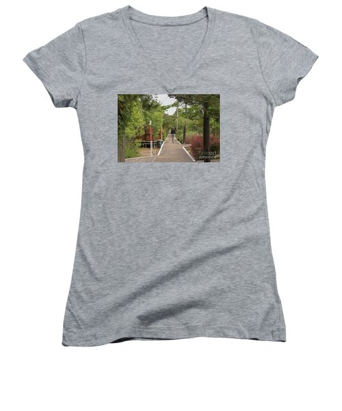 Afternoon Stroll Women's V-Neck T-Shirt (Junior Cut)