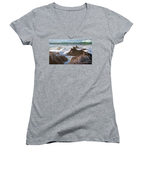 Afternoon Sun At Montana De Oro Women's V-Neck (Athletic Fit)
