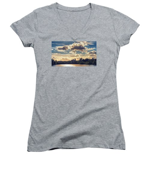 Women's V-Neck featuring the photograph Afternoon Sun by James Billings