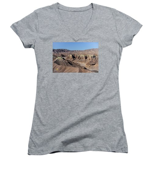 Women's V-Neck featuring the photograph Afton Canyon by Jim Thompson