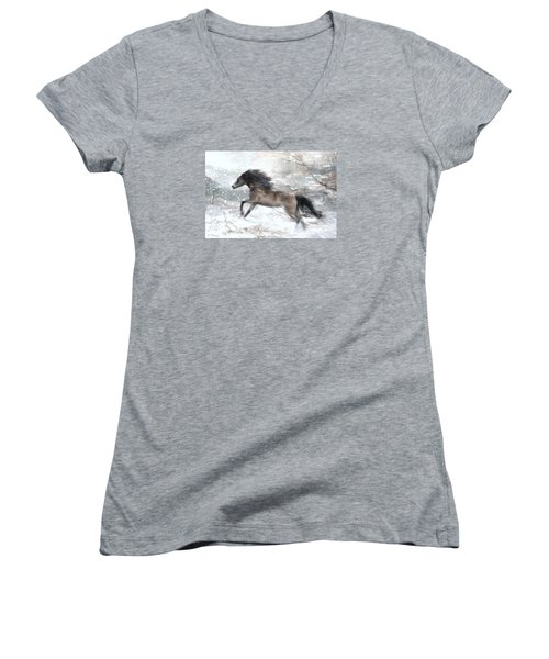 Against The Wind Women's V-Neck T-Shirt