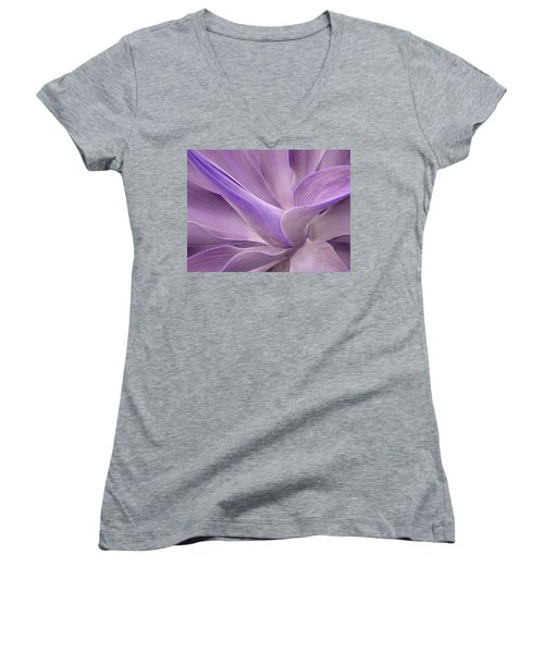 Agave Attenuata Abstract 2 Women's V-Neck (Athletic Fit)