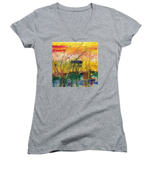 Agriculture Women's V-Neck T-Shirt (Junior Cut) by Phil Strang