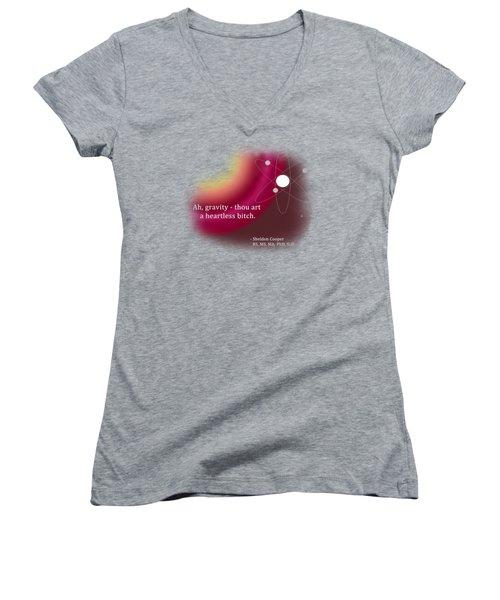 Ah, Gravity... Women's V-Neck T-Shirt