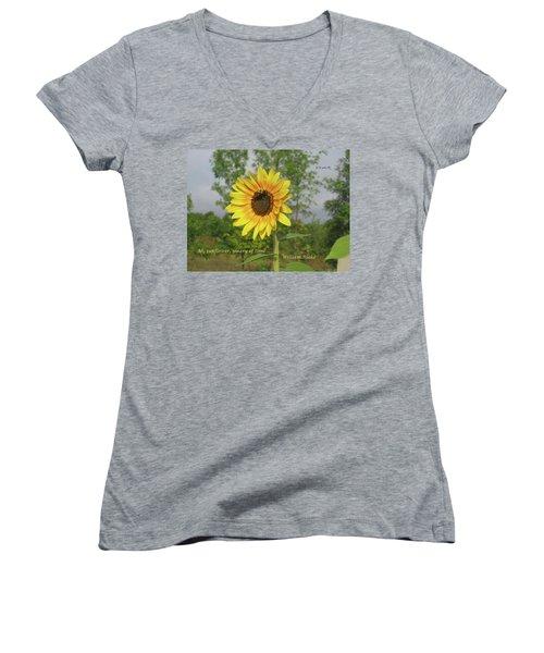 Ah, Sunflower Women's V-Neck (Athletic Fit)