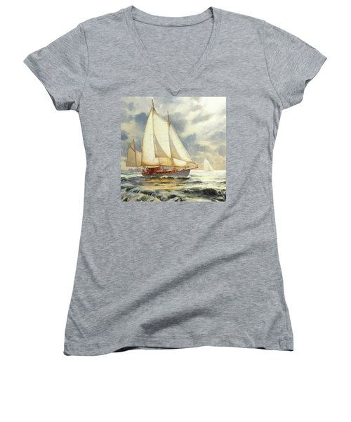 Ahead Of The Storm Women's V-Neck