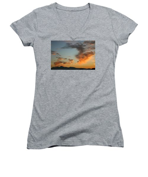 Women's V-Neck T-Shirt (Junior Cut) featuring the photograph Air Ball Cough by Marie Neder