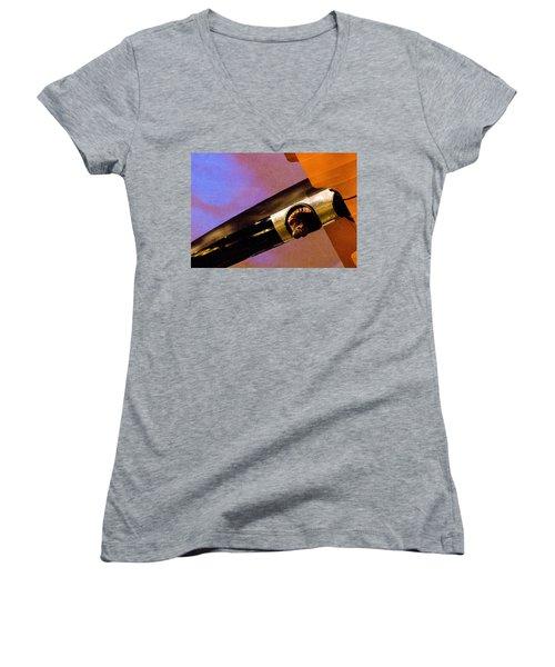 Air Mail Women's V-Neck T-Shirt (Junior Cut) by Michael Nowotny