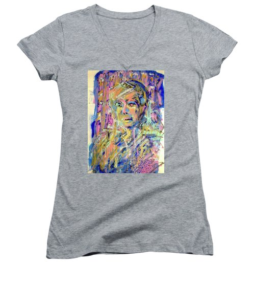 Airbrush 2 Women's V-Neck T-Shirt