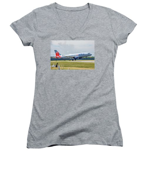 Airbus A320 Boston Strong Women's V-Neck