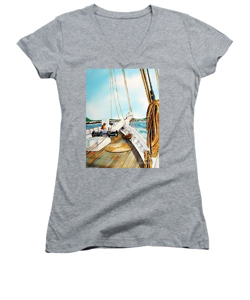 A.j. Meerwald-coming Home Women's V-Neck