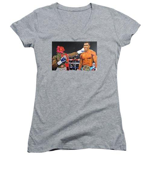 Aj Omo Oduduwa The World Champion Women's V-Neck T-Shirt