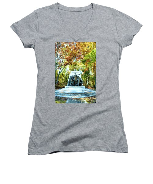Alabama Monument At Gettysburg Women's V-Neck T-Shirt