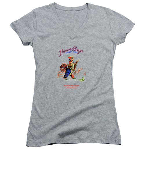 Alamo Plaza Tennessee 1950s Women's V-Neck T-Shirt