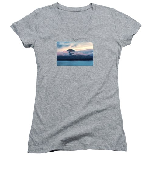 Alaska Dawn 2 Women's V-Neck T-Shirt (Junior Cut) by Lewis Mann