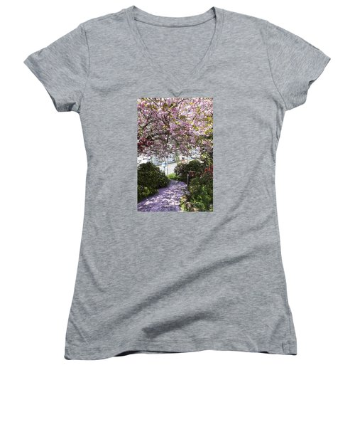 Alaska In Blossom Women's V-Neck T-Shirt