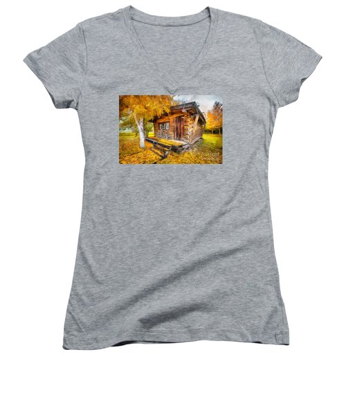 Alaskan Autumn Women's V-Neck